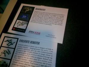 Info om Robot 4 på Oslo Maker Faire 2014