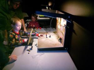 Barnen kunde göra sina egna animationer Undervatten robot Oslo Maker Faire 2014