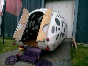 Odlade ekar i husvagn