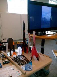 Raketer tillverkade utav elever på öståkers gymnasium