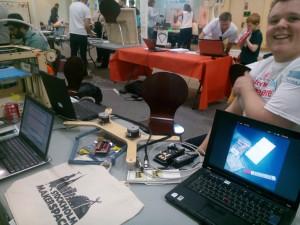 Stockholm Maker Space bord på mässan